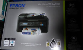 Epson Workforce WF-2630WF, 3 in 1 scanner, printer, fax - wifi ink jet printer, cartridge and mcafee