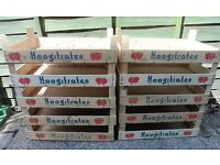 x10 Bundle of Wooden Strawberry Crates - Ideal Upcycle, Storage, Shabby Chic, Seed Trays etc.