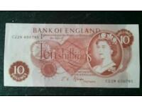 Banknote old 10/- note