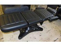 Black Leather Effect Hydraulic Massage Bed