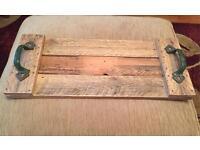 Rustic handmade tray