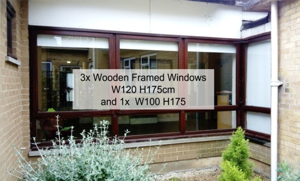 Wooden Frame Windows. VARIOUS SIZES AVAILABLE. Wood Framed Windows ...