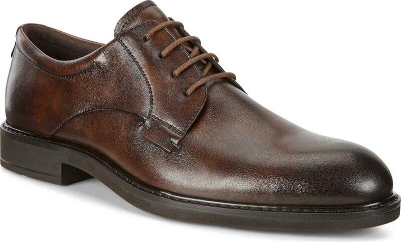 ECCO Vitrus III Plain Toe Tie Oxford (Men's Shoes) Cocoa