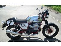 2011 MOTO GUZZI V7 CAFE RACER. LIMITED EDITION NUMBER 225. ONLY 417 MILES.