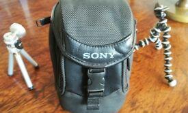 Camera case, tripod and gorilla stand - like new