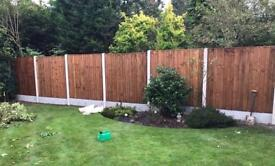 Excellent quality tanalised heavy duty vertical board wooden fence panels