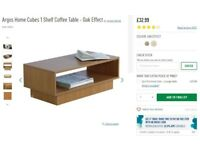 Shelf Coffee Table - Oak Effect for sale