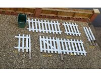 White Picket fence including gate and 5 posts for Sale - £130