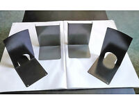 Four Metal L Shaped Bookends