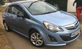 Vauxhall Corsa Excite, 1.2,metallic blue, 2014, A/C, Upgraded