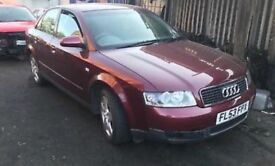 AUDI A4, 2.0 FSi, 2003 (53 PLATE) BREAKING FOR SPARES,