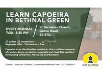 Affordable Capoeira classes in Bethnal Green / Mile End - beginners welcome