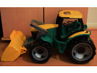Large Lena Tractor with Front Loader (Yellow/Green) TOY BARGAIN! NEGOTIABLE!