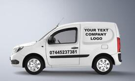 COMPANY/BUSINESS VAN DECAL STICKERS LOGO VINYL. Next Day Delivery!!!