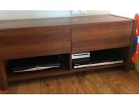 Brown tv stand and sideboard
