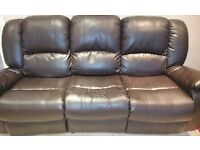 3 & 2 seater sofas, high back design and manual recliner actions.