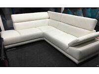 Aura Corner Sofa With Adjustable Armrest + Headrests PREMIUM LEATHER