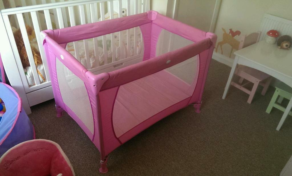 Pink Baby Girls Travel Cot Play Pen In Stoke On Trent