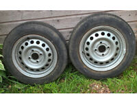 Spare wheels for caravan