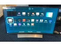"Samsung UE55HU8500 Curved 4k Ultra HD Freeview HD Freesat HD Smart 3D LED TV 55"""