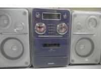 Philips Stereo System CD player + Radio + Cassette player + 2 speakers