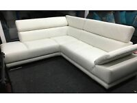 Aura Corner Sofa With Adjustable Armrest + Headrests & Chaise PREMIUM LEATHER