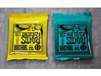 Ernie Ball Electric Guitar Strings Beefy Slinky & Not Even Slinky 2 for £12