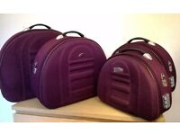 Set of 4 suitcases luggage burdungy-purple