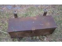 Old metal Fordson tool box