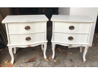 Redecorated Laura Ashley Solid Wood Bedside Tables