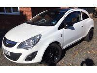 White Vauxhall Corsa Excite 1.4L