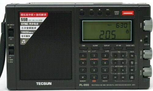 Tecsun PL990 PLL SSB World Band AM FM Shortwave Radio Receiver MP3 Player PL-990