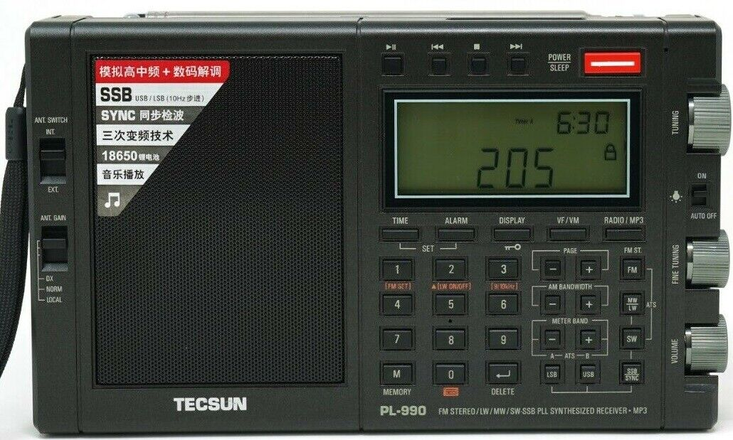 Tecsun PL990 PLL SSB World Band AM FM Shortwave Radio Receiv