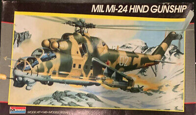 Monogram 1/48 Russian MiL-24 Hind Helicopter Gunship Plastic Model Kit #5819 Gunship Model Helicopter