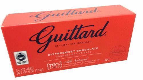 Guittard, 70% Bittersweet Cocoa Baking Bars, Semi Sweet, 6 OZ (Pack of 4)