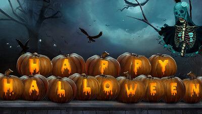 'Happy Halloween' Art Words Vinyl Studio Backdrop Photo Background Stone floor](Happy Halloween Backgrounds Desktop)