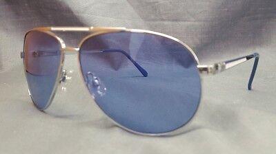 US Polo Association Aviator Style Sunglasses Blue Lenses Silver Frame Adult (Mens Blue Aviator Sunglasses)