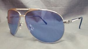 US Polo Association Aviator Style Sunglasses Blue Lenses Silver Frame Adult NEW!