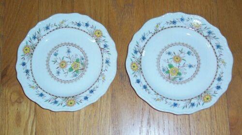 "Lot of 2 Vintage Steubenville Ivory 6"" Dessert / Bread & Butter Plates, VGC"