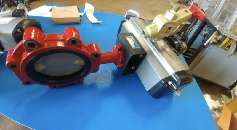 Flowserve Valve Actuator With Butterfly Valve