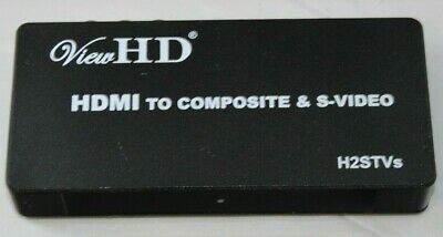 ViewHD Premium HDMI to TV Composite RCA AV + S Video Full Size Converter H2STVs