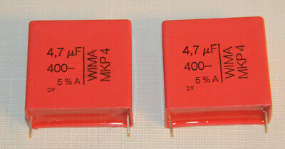2pcs - Wima Mkp4 4.7uf 47f 400v 5 Pitch37.5mm Capacitor - Free Shipping