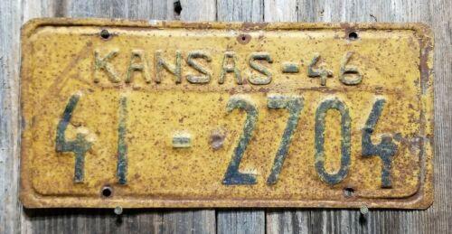 "🐾 1946 KANSAS ""PASSENGER"" LICENSE PLATE (CLAY COUNTY)"