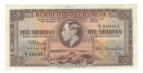Bermuda - Five (5) Shillings, 1937