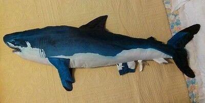 Giant Stuffed Shark tree house kids giant stuffed shark plush jumbo toy pillow 52 | ebay