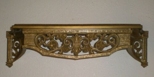 Vintage 1967 Homco Home Interiors Syroco Gold Ornate Wall Shelf Excellent Condit