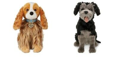 Disney - LADY AND THE TRAMP PLUSH Set LIVE ACTION MOVIE NEW WITH TAGS