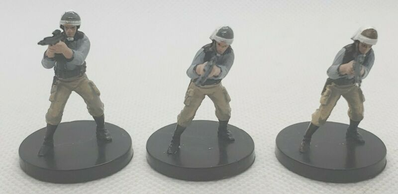 WotC Star Wars Miniatures Rebel Trooper Rebel Storm 19/60 Lot of 3 No Card