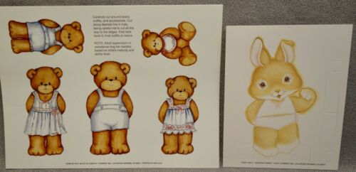 LUCY & COMPANY BEARS + BEATRICE BUNNY - 2 CURRENT Paper Doll Sets - MINT UNCUT