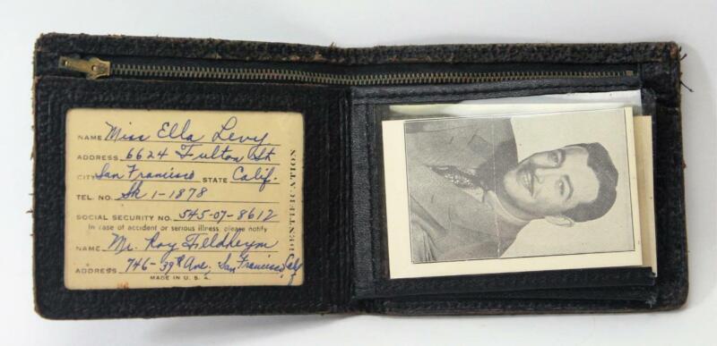Vtg 1941 Leather Wallet Billfold Movie Star Pictures Robert Taylor Lana Turner